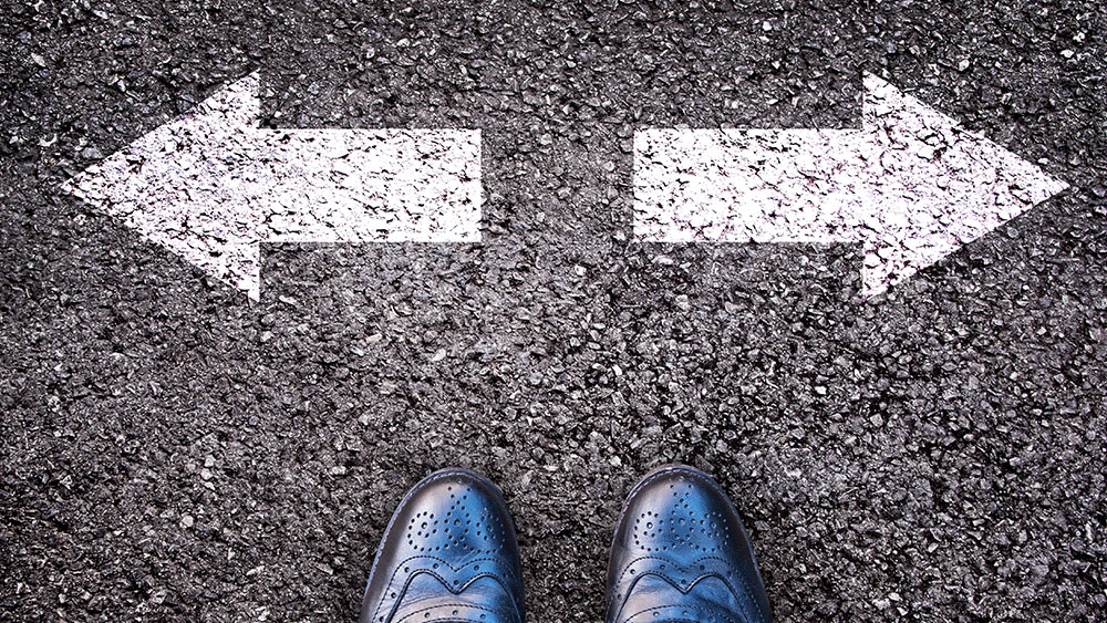 Choosing Between Two Directions